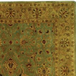 Safavieh Oriental Handmade Persian Legend Blue/ Gold Wool Rug (7'6 x 9'6) - Thumbnail 1
