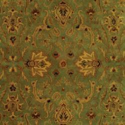 Safavieh Oriental Handmade Persian Legend Blue/ Gold Wool Rug (7'6 x 9'6) - Thumbnail 2