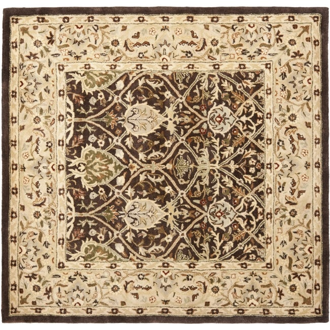 Safavieh Handmade Persian Legend Brown/ Beige Wool Rug (6' Square)