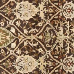 Safavieh Handmade Persian Legend Brown/ Beige Wool Rug (6' Square) - Thumbnail 2