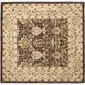 Safavieh Handmade Persian Legend Brown/ Beige Wool Rug (6' Square)