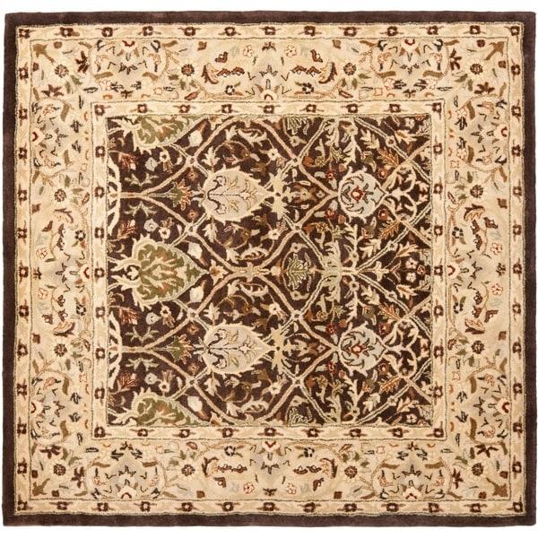 Shop Safavieh Handmade Persian Legend Brown/ Beige Wool