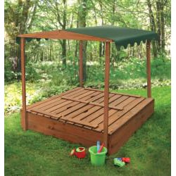 Badger Basket Covered Convertible Cedar Sandbox with Canopy - Thumbnail 1