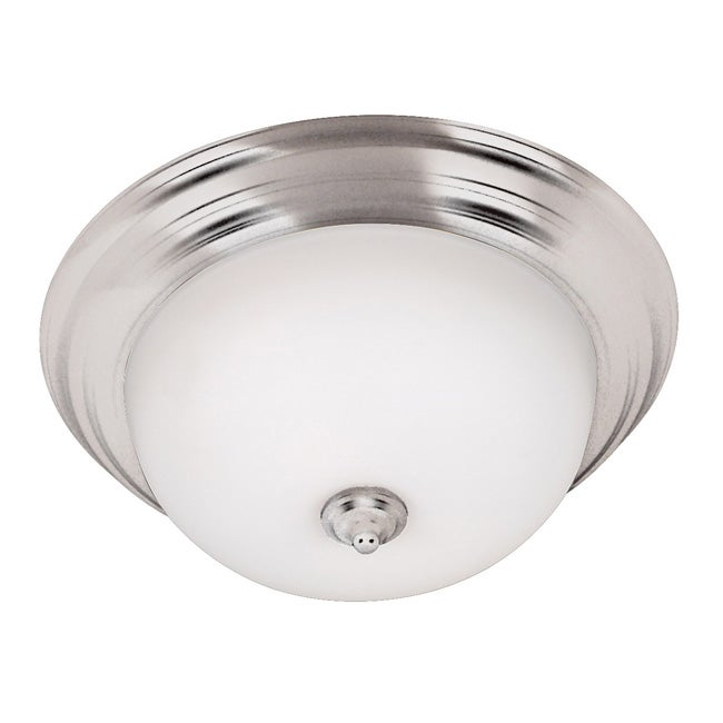 Jubilee 2-light Brushed Steel Flush Mount