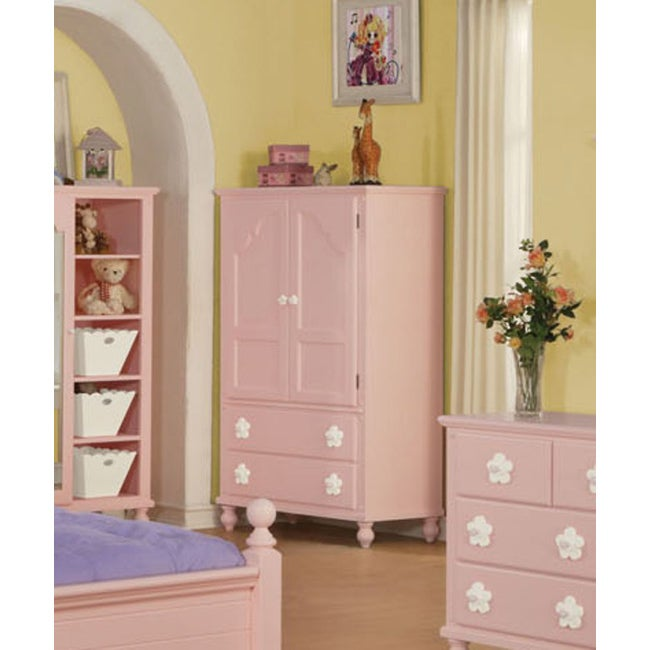 Pink/White Flower TV Armoire