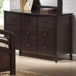 San Marino Dark Walnut Youth 9 Drawer Dresser - Thumbnail 1