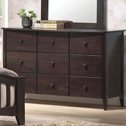San Marino Dark Walnut Youth 9 Drawer Dresser