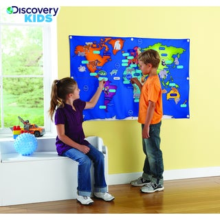 Discovery Kids Fabric Activity World Map