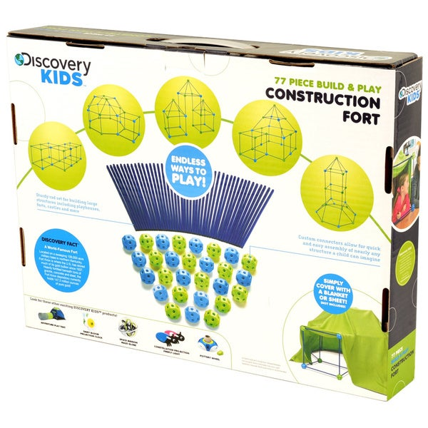 Discovery Kids 69 Piece Build /& Play Construction Fort
