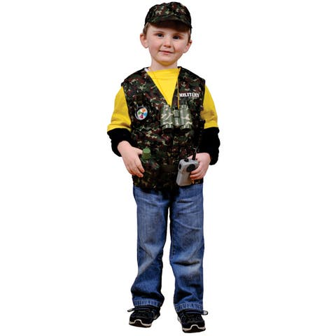 Dress Up America Kids' 'Military Forces' Role Play Dress Up Set - Multi
