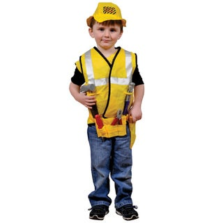 Dress Up America Kids' 'Construction Worker' Role Play Dress Up Set