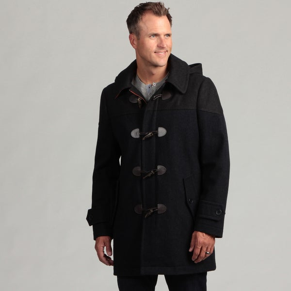 Izod Mens Wool Toggle Coat With Hood - Free Shipping Today ...