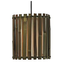 Chambers 1 Light Mini Pendant - Split Bamboo