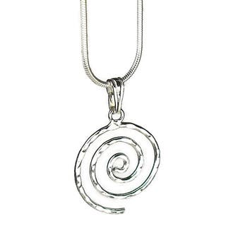Jewelry by Dawn Hammered Swirl Sterling Silver Snake Chain Necklace|https://ak1.ostkcdn.com/images/products/6959501/Jewelry-by-Dawn-Hammered-Swirl-Sterling-Silver-Snake-Chain-Necklace-P14474352.jpg?impolicy=medium
