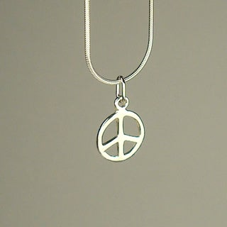 Jewelry by Dawn Small Peace Sterling Silver Snake Chain Necklace