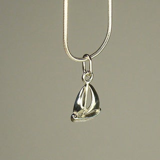 Jewelry by Dawn Small Sailboat Sterling Silver Snake Chain Necklace