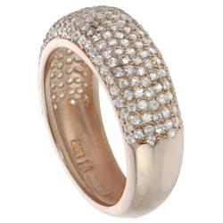 Journee Collection  Rose Gold-plated Silver White Cubic Zirconia Anniversary Ring - Thumbnail 1