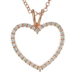 Journee Rose Gold-plated Sterling Silver Cubic Zirconia Heart Necklace