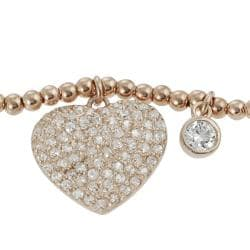 Journee Collection  Children's Rose Gold-plated Silver Cubic Zirconia Bracelet - Thumbnail 1