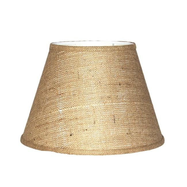 Crown Lighting Brown Burlap Modified Drum Lampshade
