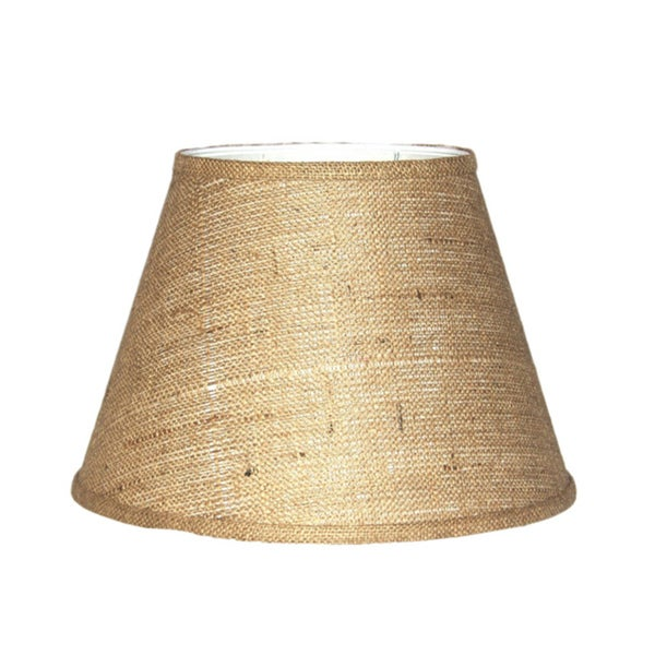 Crown Lighting Brown Burlap Modified Drum Lampshade