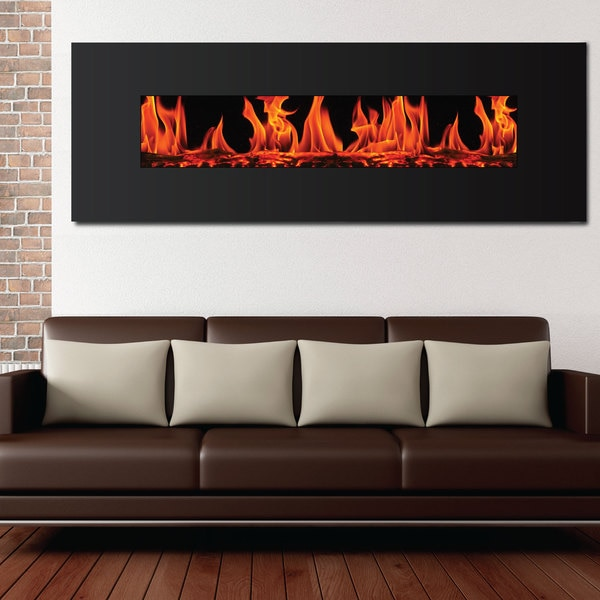 Frigidaire Valencia Extra Wide Wall Mount Electric Fireplace ...