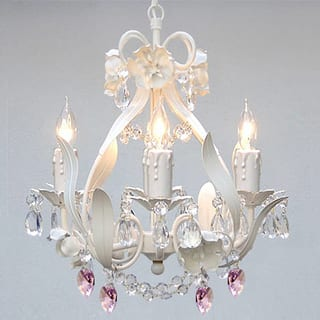 Mini chandeliers for less overstock maison rouge turner gallery wrought iron and crystal mini 4 light chandelier aloadofball Gallery