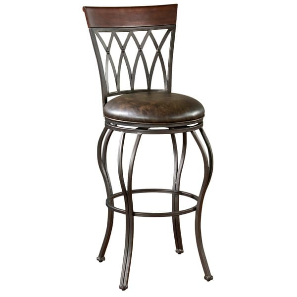 Shop Parmele 34 Inch Tall Swivel Bar Stool On Sale Free Shipping