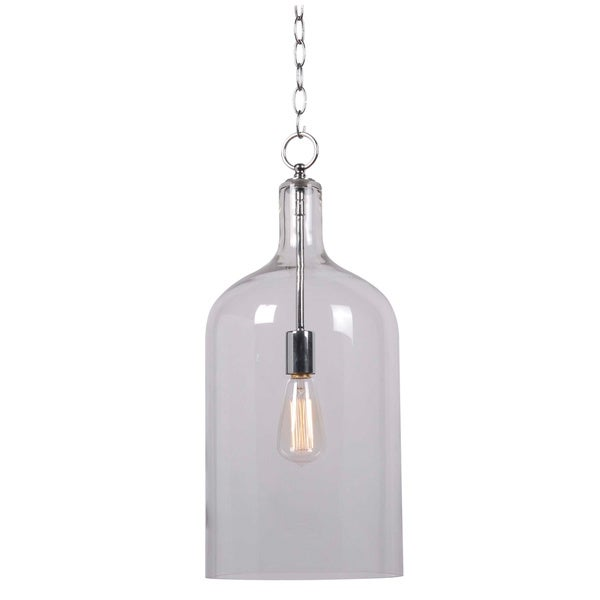 Design Craft Corsica Chrome 1-light Pendant - Free Shipping Today - Overstock.com - 14475118  sc 1 st  Overstock.com & Design Craft Corsica Chrome 1-light Pendant - Free Shipping Today ... azcodes.com