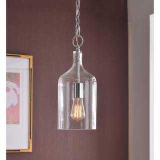 Design Craft Corsica Chrome 1-light Pendant
