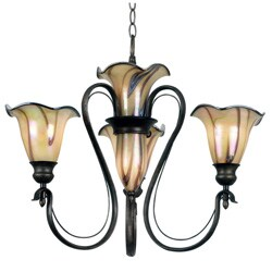 Shamash 26 Inches Wide With Tuscan Silver Finish 5 Light Chandelier