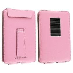 INSTEN Pink Leather Phone Case Cover/ Screen Protector for Barnes & Noble Nook Color - Thumbnail 2