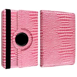 Pink Crocodile Leather Case/ Screen Protector for Amazon Kindle Fire - Thumbnail 2