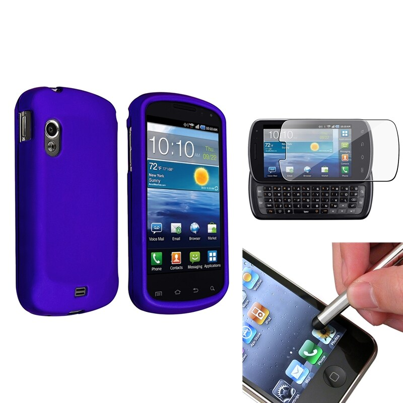 INSTEN Blue Phone Case Cover/ Stylus/ LCD Protector for Samsung Stratosphere i405