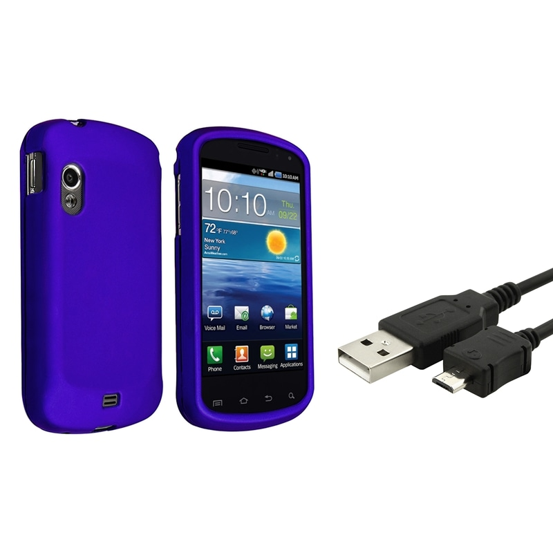 INSTEN Blue Phone Case Cover/ USB Cable for Samsung Stratosphere i405
