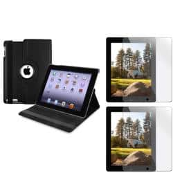 INSTEN Black Swivel Tablet Case Cover/ Screen Protectors for Apple iPad 2/ 3/ New iPad/ 4|https://ak1.ostkcdn.com/images/products/6960948/80/283/BasAcc-Black-Swivel-Case-Screen-Protectors-for-Apple-iPad-2-3-New-iPad-4-P14475563.jpg?impolicy=medium