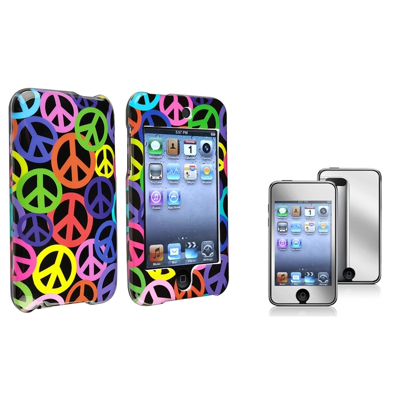 INSTEN iPod Case Cover/ Mirror LCD Protector for Apple iPod Touch Generation 2/ 3