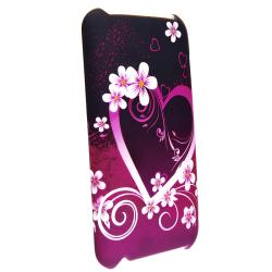 INSTEN Heart iPod Case Cover/ Mirror Protector for Apple iPod Touch Generation 2/ 3