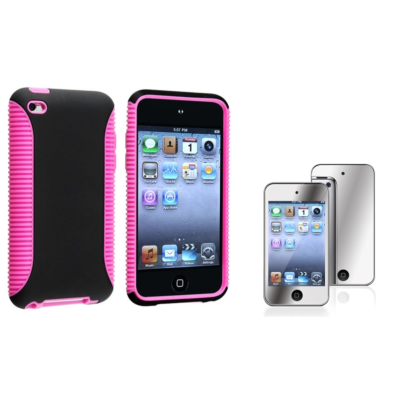 Hybrid Case/ Mirror Protector for Apple iPod Touch Generation 4
