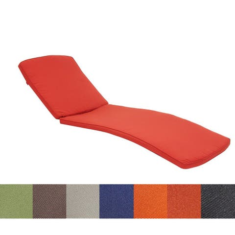 Jeco Wicker Patio Chaise Lounge Cushion