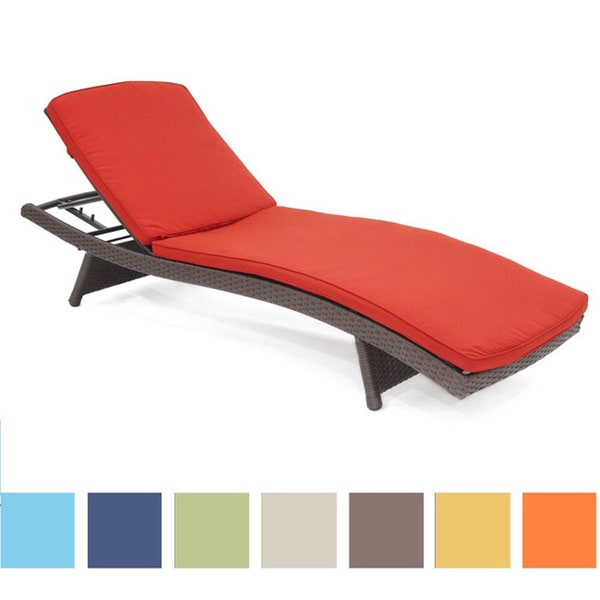 Wicker Patio Chaise Lounge Cushion   Free Shipping Today   Overstock.com    14475702