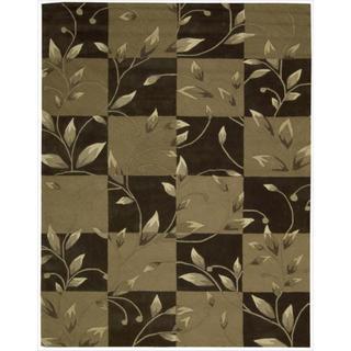Nourison Hand-tufted Contours Vine Brown Rug (8' x 10'6)