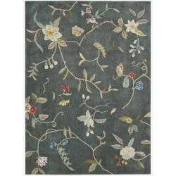 Nourison Hand-tufted Contours Slate Rug (8' x 10'6)