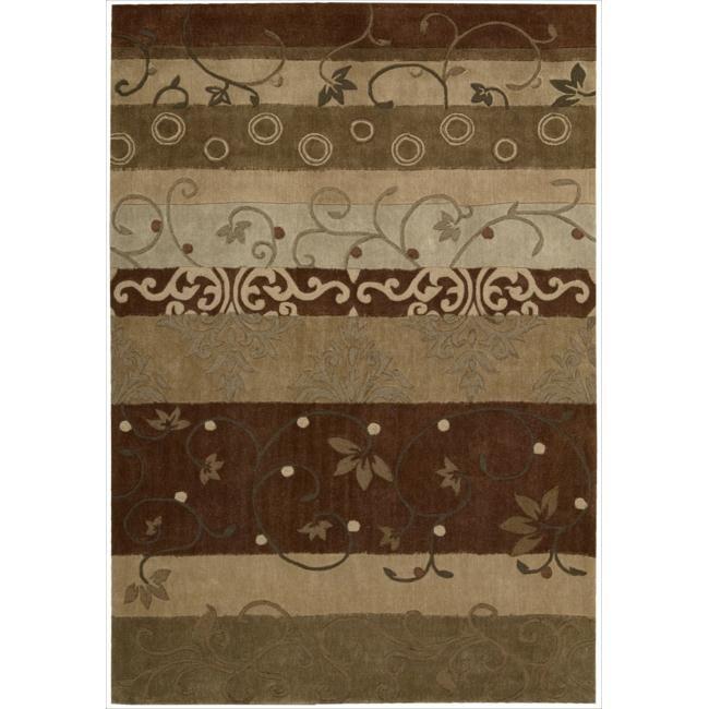 "Nourison Hand-Tufted Contours Rectangular Multicolor Rug (8' x 10'6"")"