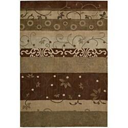 """Nourison Hand-Tufted Contours Rectangular Multicolor Rug (8' x 10'6"""") - Thumbnail 0"""