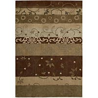 "Nourison Hand-Tufted Contours Rectangular Multicolor Rug (8' x 10'6"")"