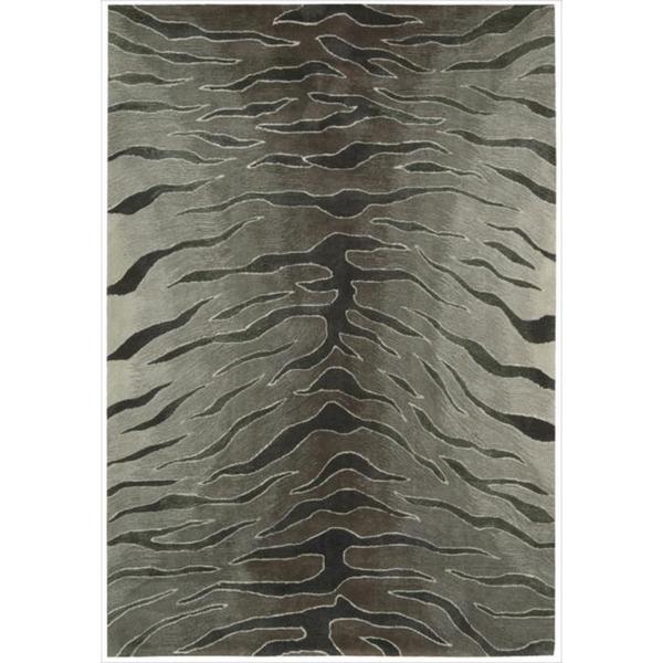 Nourison Hand-tufted Contours Animal Print Silver Rug (8' x 10'6)
