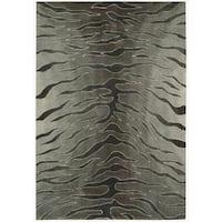 Nourison Hand-tufted Contours Animal Print Silver Rug - 8' x 10'6
