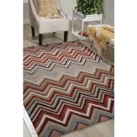 Nourison Hand-tufted Contours Zigzag Multicolor Rug - 8' x 10'6