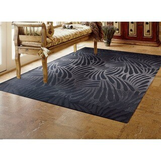 Nourison Hand-tufted Contours Charcoal Rug (8' x 10'6)